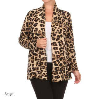 Women's Plus Size Animal Print Cardigan (2 options available)