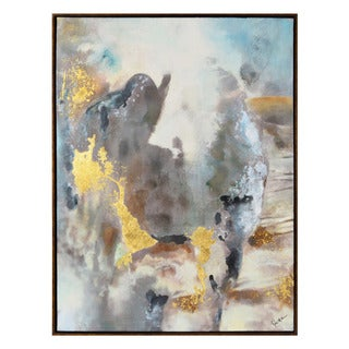 Renwil 'Cinder Springs' Framed Canvas Abstract Wall Art