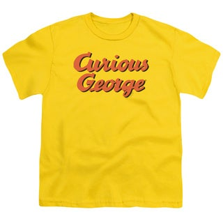 Curious George/Logo Short Sleeve Youth 18/1 in Yellow