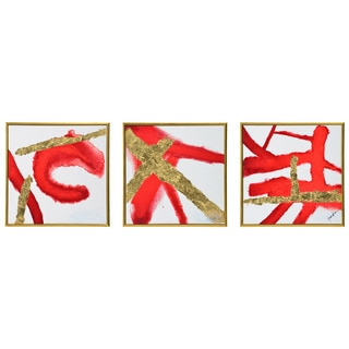 Renwil 'Capitata' Framed Abstract Canvas Art (Set of 3)