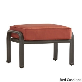 Matira Metal Outdoor Ottoman Stool with Cushion by NAPA LIVING