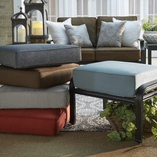 Matira Metal Outdoor Ottoman Stool with Cushion iNSPIRE Q Oasis