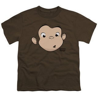 Curious George/George Face Short Sleeve Youth 18/1 in Coffee