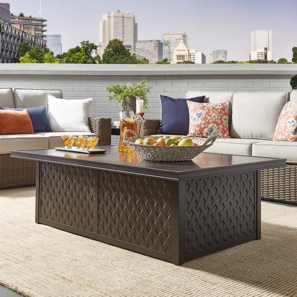 Shop Matira Metal Outdoor Concrete Coffee Table INSPIRE Q