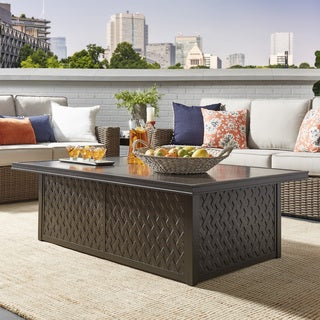 Matira Metal Outdoor Concrete Coffee Table iNSPIRE Q Oasis