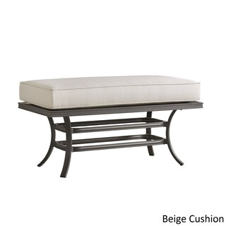 Matira Metal Patio Cushioned Concrete Ottoman Coffee Table iNSPIRE Q Oasis