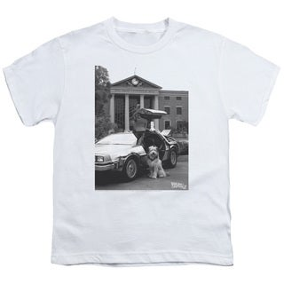 Back To The Future Ii/Einstein Short Sleeve Youth 18/1 White