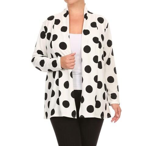 Women's Plus-size Polka-dot Cardigan