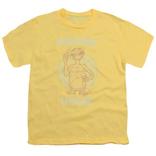 ET/Phone Short Sleeve Youth 18/1 in Banana