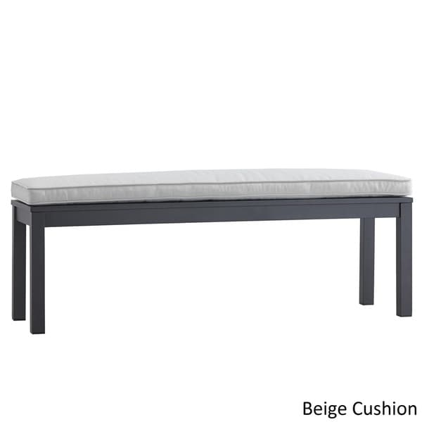 Matira Metal 55-inch Patio Cushioned Bench iNSPIRE Q Oasis - Free Shipping  Today - Overstock.com - 19573561 - Matira Metal 55-inch Patio Cushioned Bench INSPIRE Q Oasis - Free
