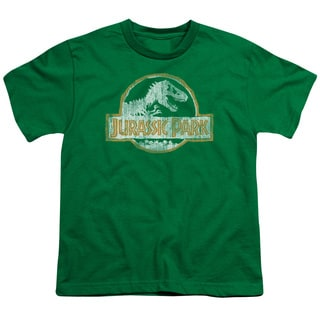 Jurassic Park/Jp Orange Short Sleeve Youth 18/1 in Kelly Green