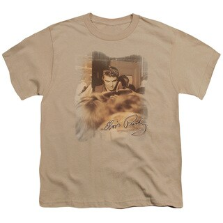 Elvis/One At A Time Short Sleeve Youth 18/1 in Sand