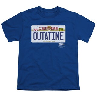 Back To The Future/Outatime Plate Short Sleeve Youth 18/1 in Royal