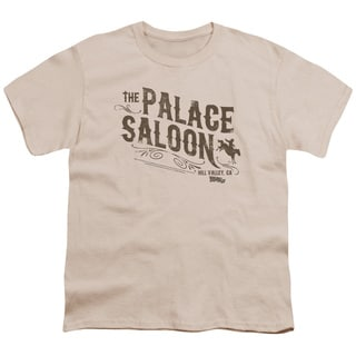 Back To The Future Iii/Palace Saloon Short Sleeve Youth 18/1 in Cream
