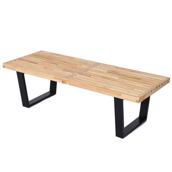 Enjoyable Shop Mcm George Nelson Style Platform Bench Free Shipping Theyellowbook Wood Chair Design Ideas Theyellowbookinfo