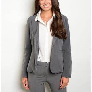 JED Women's Career Single Button Long-sleeved Blazer|https://ak1.ostkcdn.com/images/products/12803697/P19573680.jpg?impolicy=medium