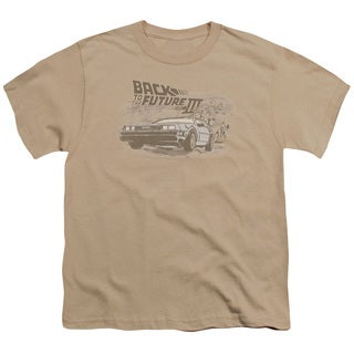 Back To The Future Iii/Carboys and Indians Short Sleeve Youth 18/1 Sand