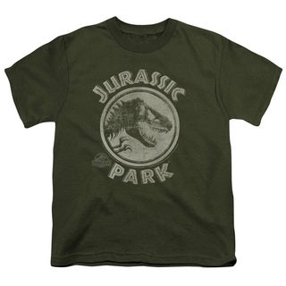 Jurassic Park/Jp Stamp Short Sleeve Youth 18/1 in Military Green
