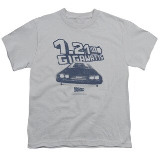 Back To The Future/Gigawatts Short Sleeve Youth 18/1 in Silver