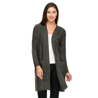 Jed Women's Loose-fit Acrylic Grey Cardigan