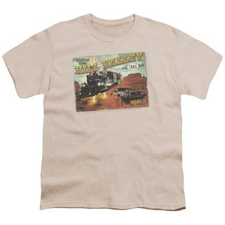 Back To The Future Iii/Hill Valley Postcard Short Sleeve Youth 18/1 in Cream