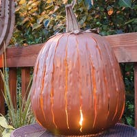 Desert Steel XL Orange Pumpkin Luminary