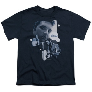 Elvis/Play That Guitar Short Sleeve Youth 18/1 in Navy