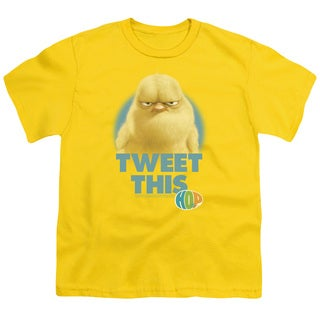 Hop/Tweet This Short Sleeve Youth 18/1 in Yellow
