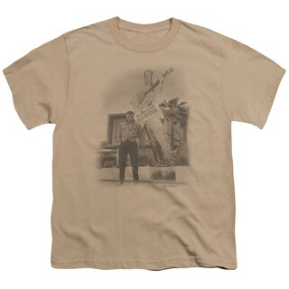 Elvis/Larger Than Life Short Sleeve Youth 18/1 in Sand