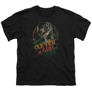 Jurassic Park/Clever Girl Short Sleeve Youth 18/1 in Black