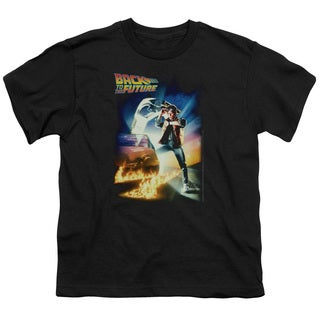 Back To The Future/Poster Short Sleeve Youth 18/1 in Black