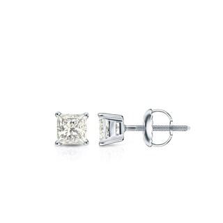 Auriya 14k Gold 1/3ct TDW Princess-Cut Diamond Solitaire Stud Earrings (3 options available)
