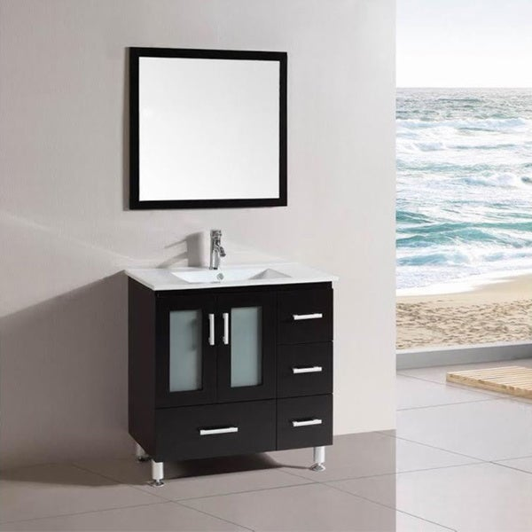 Bathroom Vanities 30 Inch belvedere freestanding espresso wood 30-inch bathroom vanity