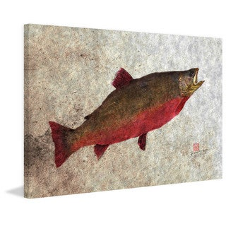 Marmont Hill - 'Arctic Char' by Dwight Hwang Painting Print on Wrapped Canvas