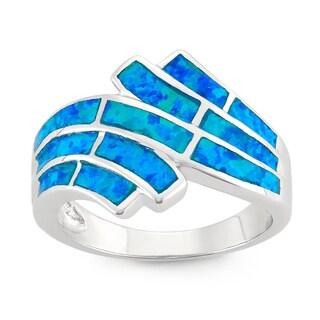 La Preciosa Sterling Silver Blue Opal Statement Ring