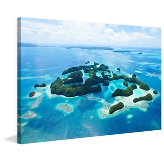 Marmont Hill - 'Tiny Islands' Painting Print on Wrapped Canvas