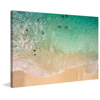 Marmont Hill - 'Splash Near Shore' Painting Print on Wrapped Canvas