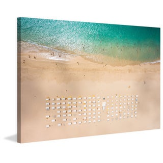 Marmont Hill - 'Beach Goers' Painting Print on Wrapped Canvas
