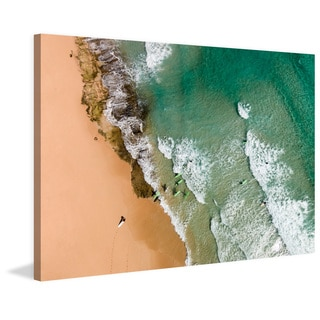 Marmont Hill - 'The Waves' by Karolis Janulis Painting Print on Wrapped Canvas