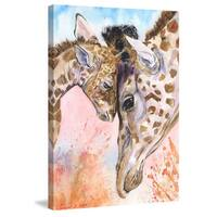 Marmont Hill - 'Giraffes Family 2' by George Dyachenko Painting Print on Wrapped Canvas - Multi-color