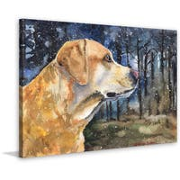 Marmont Hill - Handmade Golden Labrador 2 Print on Wrapped Canvas