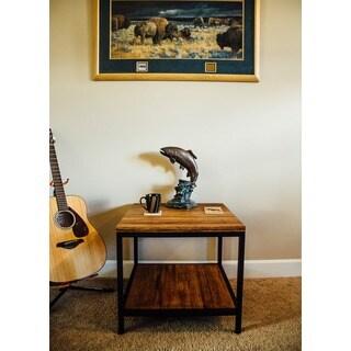 Bamboogle Brooklyn Loft Collection Black-framed Rectangular Side Table