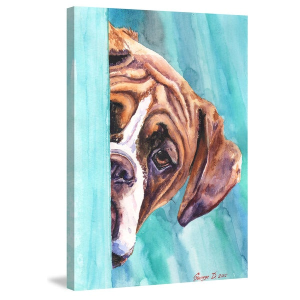 Marmont Hill - 'Hide and Seek' by George Dyachenko Painting Print on Wrapped Canvas - Multi-color