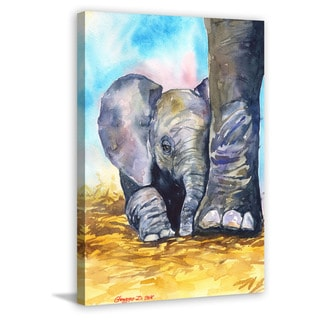 Marmont Hill - 'Mother Love' by George Dyachenko Painting Print on Wrapped Canvas
