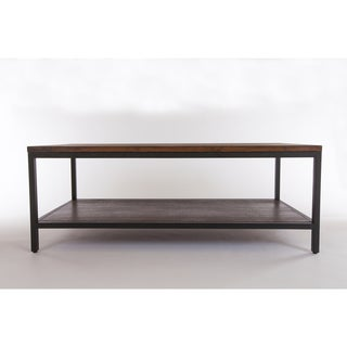 Bamboogle Brooklyn Loft Collection Black-frame Metal and Wood Coffee Table