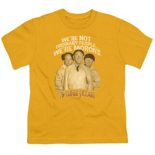 Three Stooges/Morons Short Sleeve Youth 18/1 in Gold