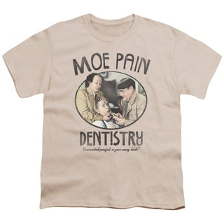 Three Stooges/Moe Pain Short Sleeve Youth 18/1 Cream/Ivory