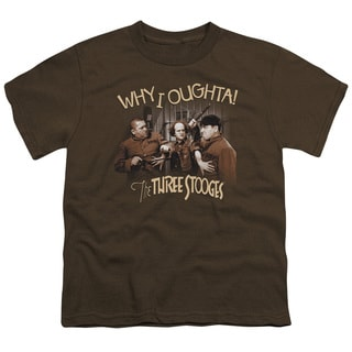 Three Stooges/Why I Oughta Short Sleeve Youth 18/1 in Coffee