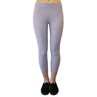 Slim Mauve Moisturizing Capri Compression Leggings