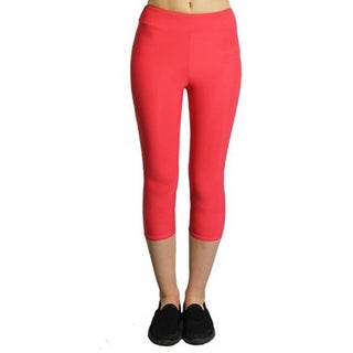 Proskins Women's Slim Coral Lycra, Elastane, Spandex, and Nylon Moisturizing Compression Capri Leggings
